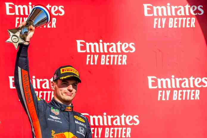 2019 United States Grand Prix, Sunday - Max Verstappen