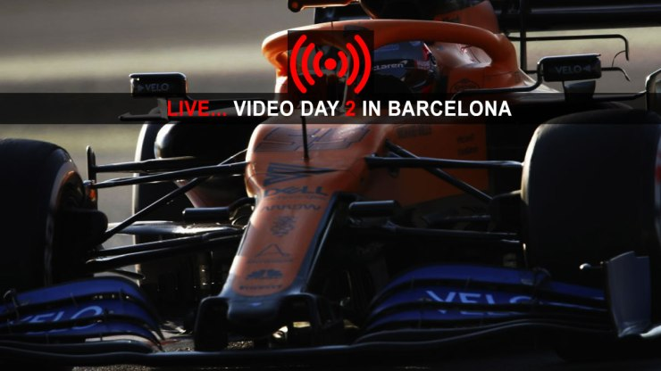 FORMULA 1 LIVE VIDEO DAY 2 - F1 LIVE : PRE-SEASON TESTING 2020