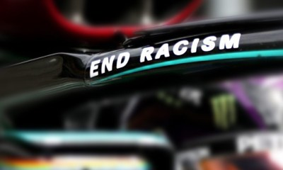 "ALL 20 DRIVERS WILL WEAR AND DISPLAY T-SHIRTS SAYING ""END RACISM"""