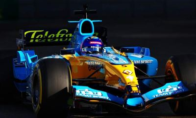 GALLERY ALONSO DRIVES HIS 2005 TITLE-WINNING RENAULT
