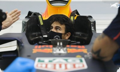 SERGIO PEREZ VISITS CRIMSON BULL RACING BASE