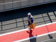 Job done. Pitlane marshal after the qualifying.