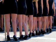 Support race grid girls.