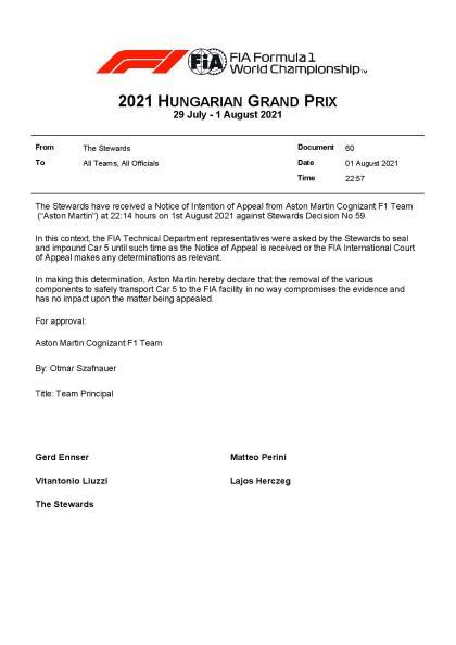 F1 – Official: Vettel's Aston Martin Sealed    F1only.fr