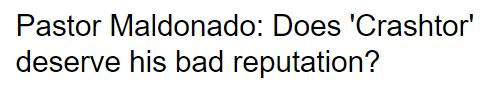BBC F1 article on Pastor Maldonado