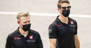 Grosjean and Magnussen reunite in Detroit