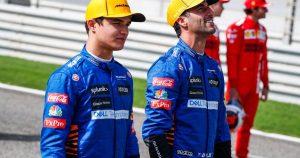 Sainz made Norris calm about Ricciardo's arrival