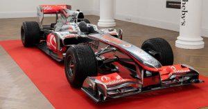 Hamilton's 2010 McLaren sold for record price