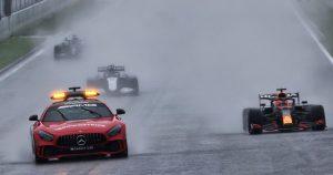 Race: Verstappen wins the farce that was the Belgian GP