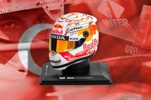 Contest GP Turkey: win a 1:4 scale model of Max' 2021 helmet!