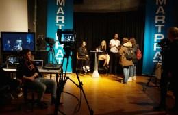 Direktesending fra auditoriet. Foto: Tuva Holmes Bergersen