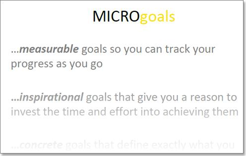 Micro-Goals