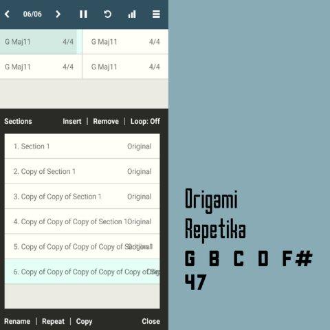Origami Repetika – G B C D F# 47