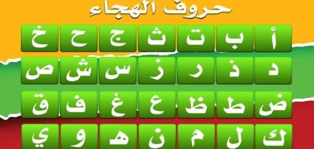 حروف الهجاء بالترتيب الحروف الهجائيه في اللغه العربيه مع