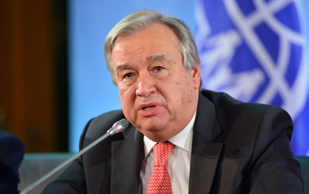 Secretary General Antonio Guterres Or Syrian