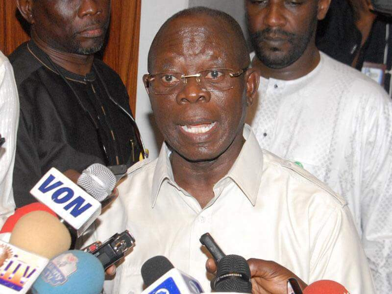 Image result for Oshiomhole: INEC worked against APC in the elections