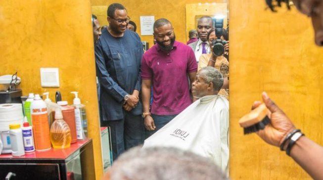 Image result for Fayose asks Osinbajo to go get a haircut in Baga or Zamfara — after VP's visit to Abuja salon