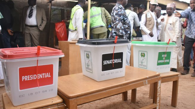 Image result for INEC extends voting time in some polling units