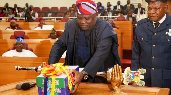 Image result for Ambode finally presents 2019 budget