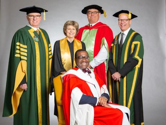 Akinwumi Adesina awarded honorary doctor in Canada