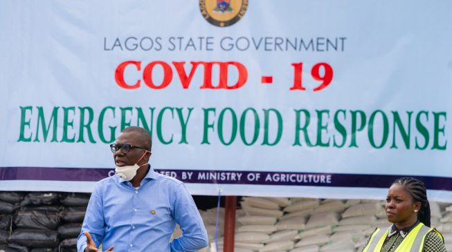 Lagos State Government Says None Of Its Warehouses, Storing Ongoing Covid 19 Emergency Food Response Stimulus Package Was Vandalised And Looted At Abule Egba Area Of The State. It Made The Clarifica