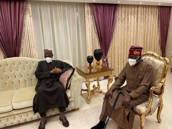 Buhari visits Tinubu in London