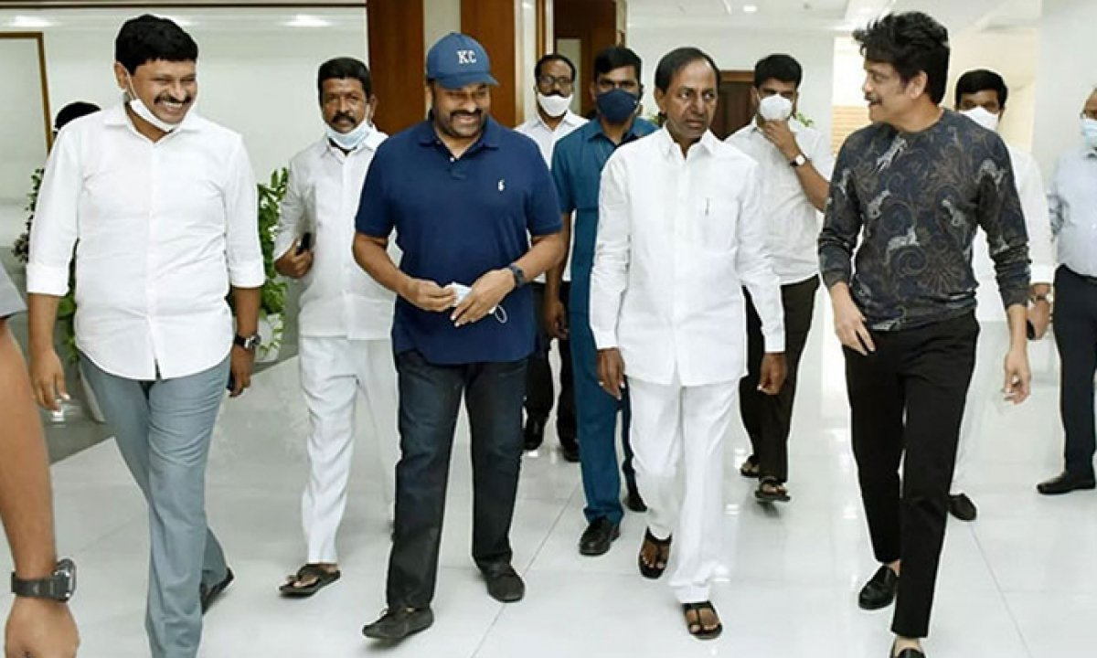 Chiranjeevi and Nagarjuna is meeting with the CM KCR.