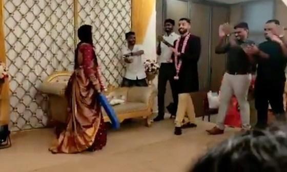 TeluguStop.com - Viral video: Mystery spinner playing cricket at his reception ..- General-Telugu-Telugu Tollywood Photo Image