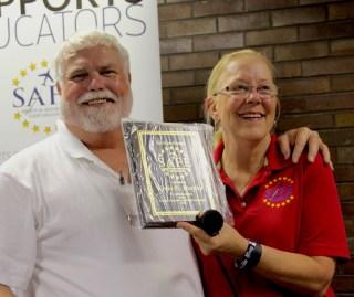 Kevin receives Service Award