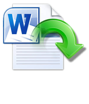 recover lost microsoft word document
