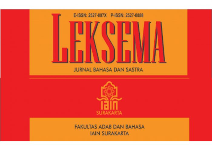 PUBLIKASI JURNAL LEKSEMA VOL 4 NO 2 TH 2019