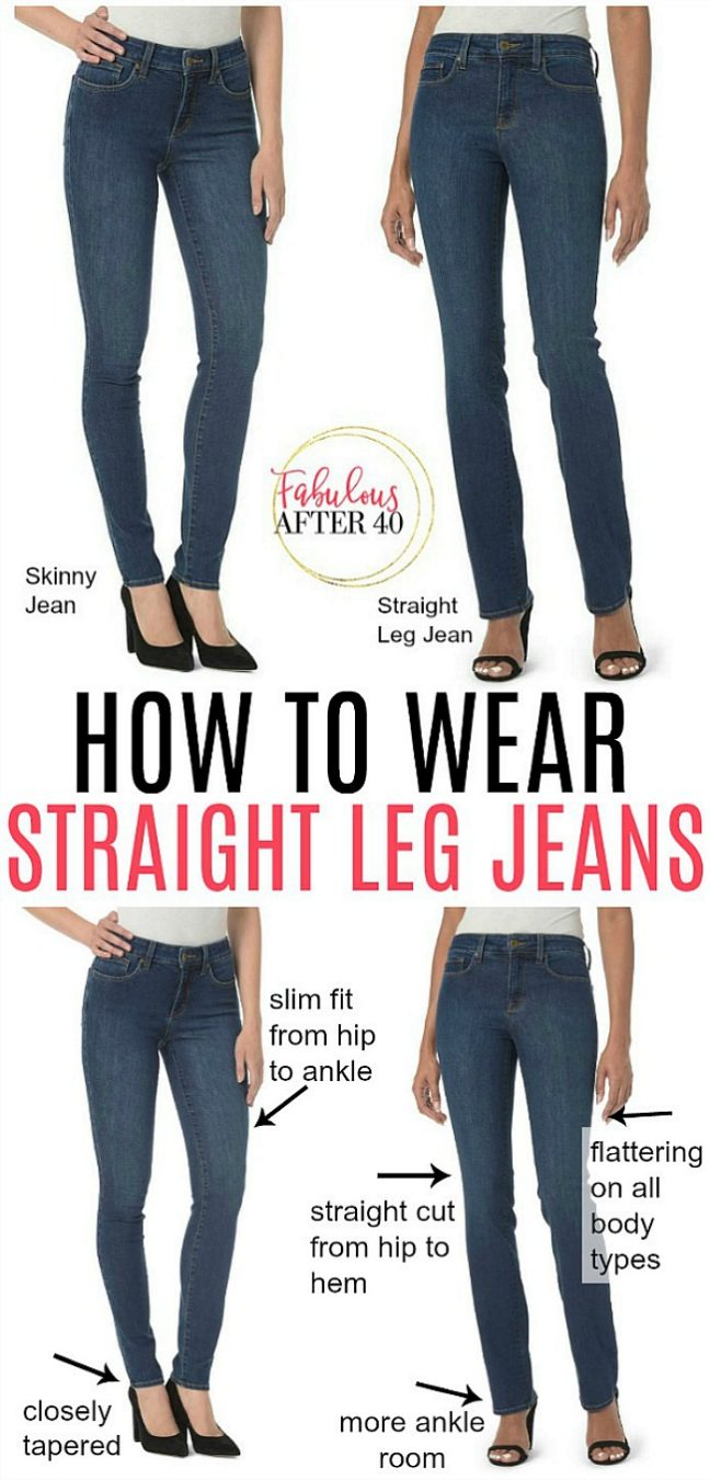How To Wear Straight Leg Jeans And Feel Good