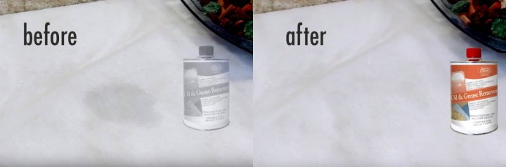 oil stains from tiles before and after