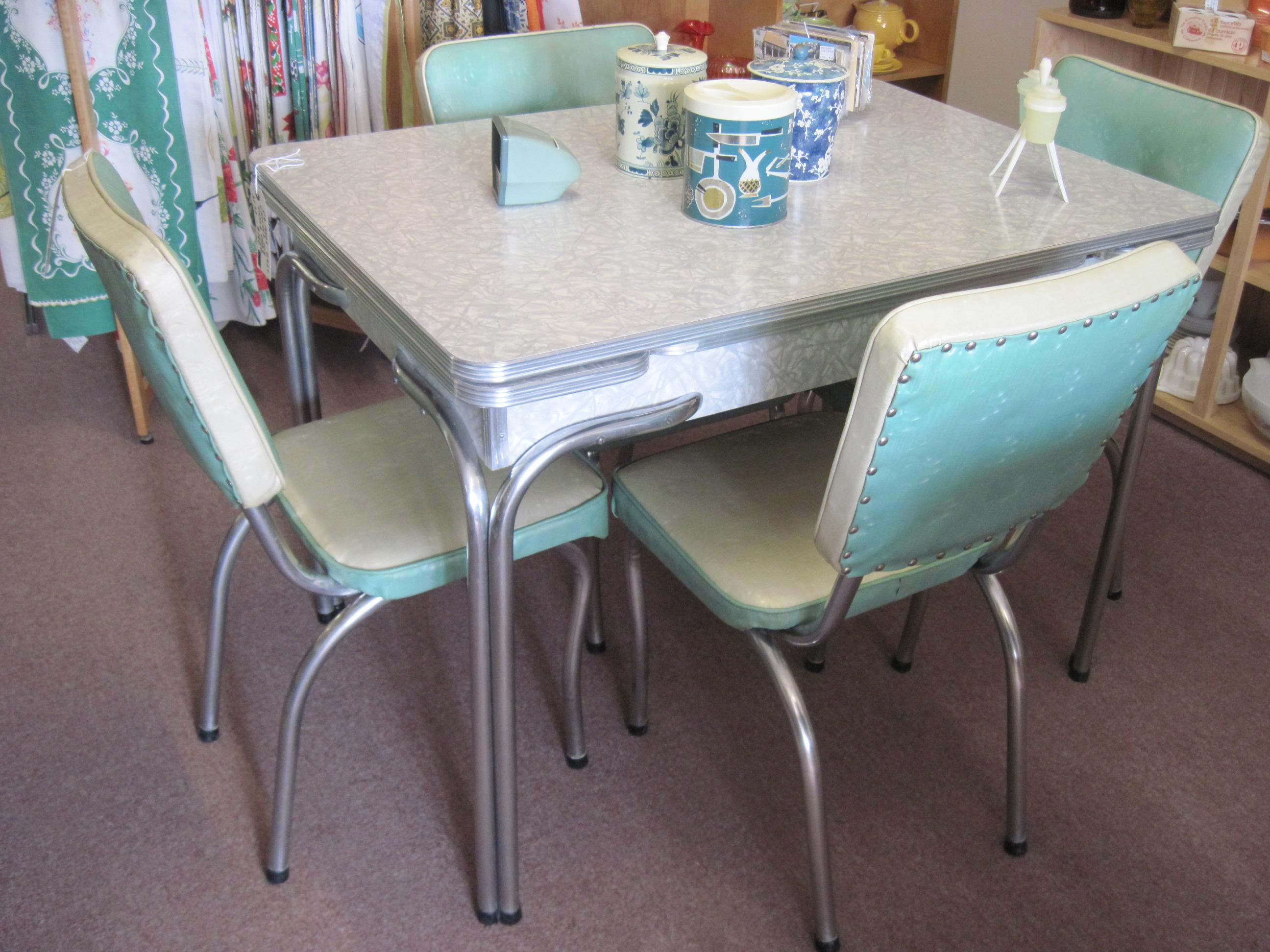 Chrome Dining Sets Vintage 1950s Walter Of Wabash Kitchen Set