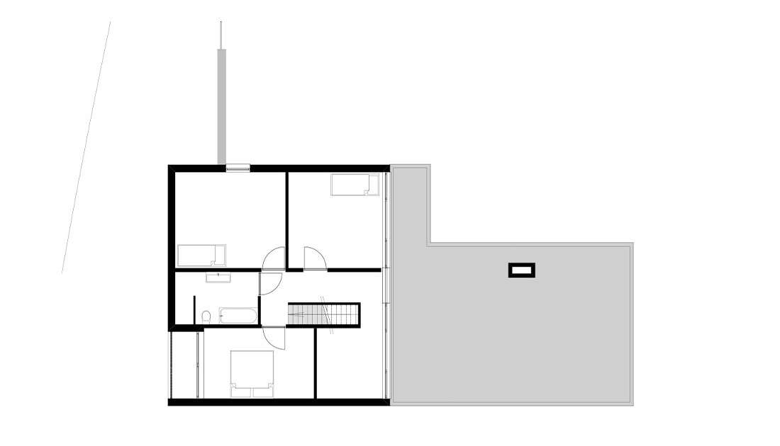 plattegrond eigentijdse villa woning