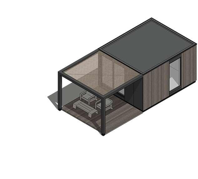 Tiny house Model S, 20m2