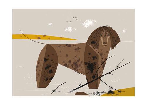 Water Dog by Charley Harper