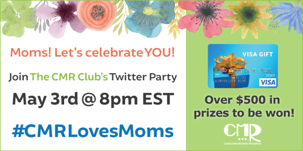 #CMRLovesMoms 2016 twitter party graphic