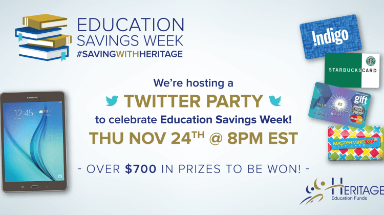 Celebrate Education Savings Week With A Party! #SavingWithHeritage