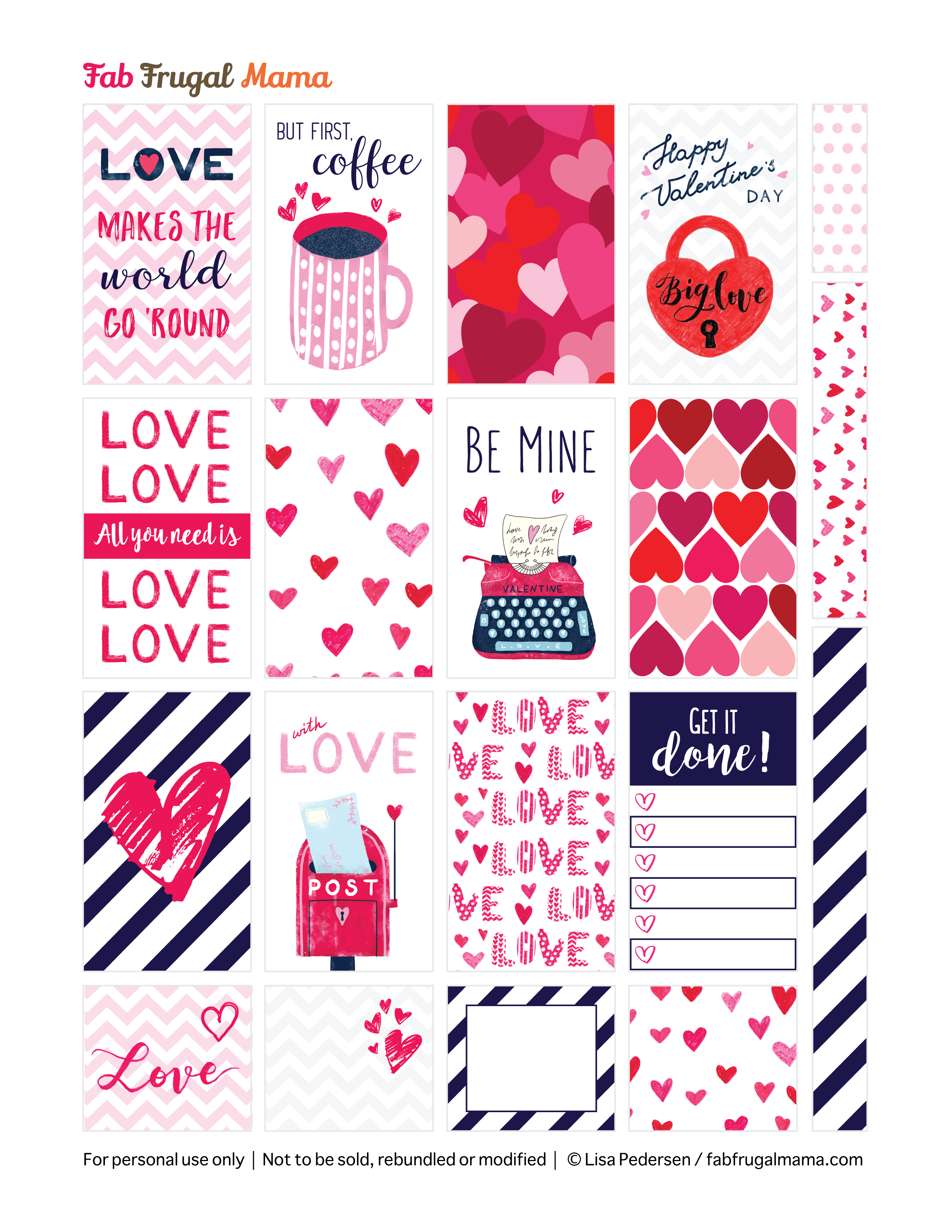 photograph relating to Happy Planner Free Printable Stickers known as Totally free Printable Joyful Planner Valentine Stickers - Fab Frugal