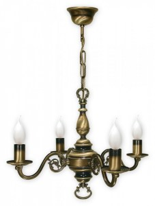 Chandelier 4 Arms Traditional Ceiling Light Antique Brass Finish Candle Led Ebay