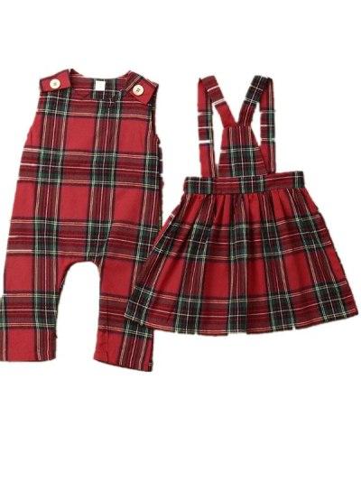 Christmas Sister Match Xmas Romper Strap Dress