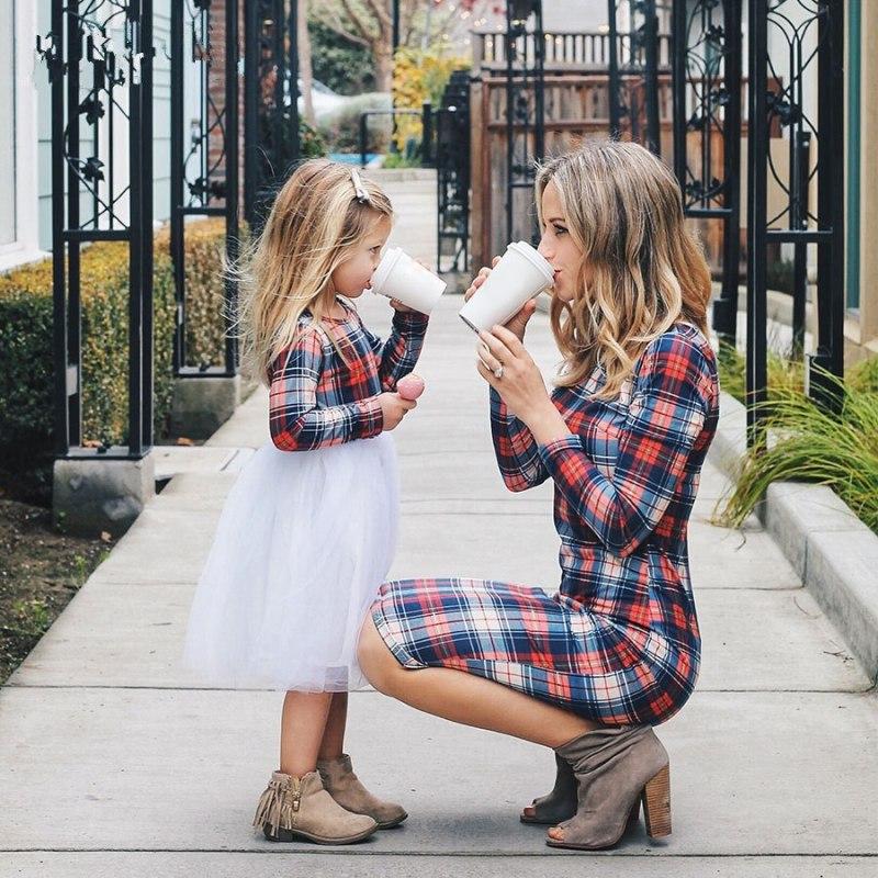 Matching plaid dress for mom n me