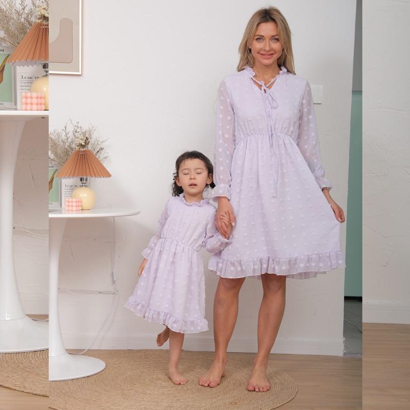 Polka Dots Comfy Pink Matching Dress Mommy n Me