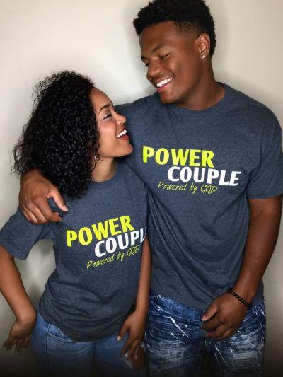 Power Couple Print Lovers T Shirt