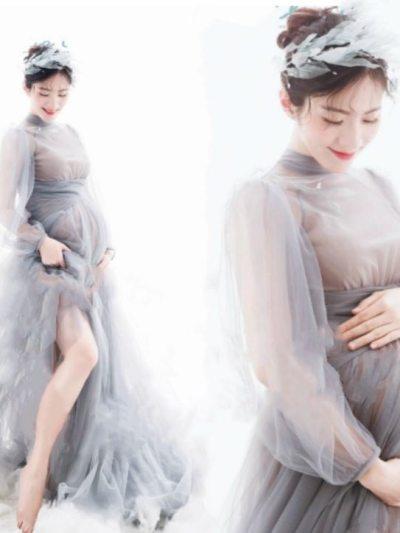 Glamorous Long Mesh Maternity Photography Props
