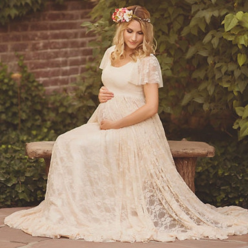 Long Maxi Gown Maternity Dresses Maternity Photography Props