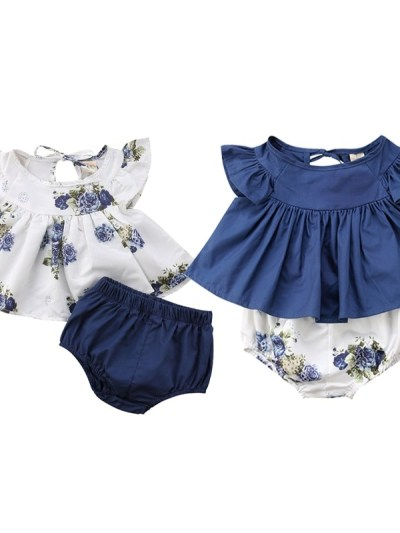 NB Girl Floral 2 pc Set Outfits Twins Baby Dress