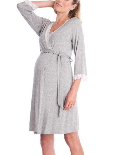 Nightgown Elegant Maternity Nursing Dress