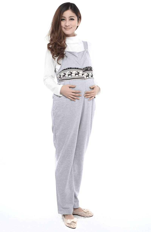 Gray Maternity Pajamas